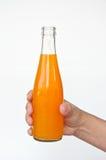 瓶现有量汁液桔子 免版税库存图片