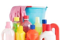 瓶用桶提洗涤剂 免版税库存照片