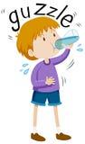 从水瓶的小男孩gazzle 皇族释放例证