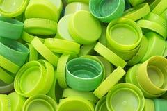 绿色瓶盖 免版税库存图片