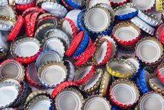 瓶盖背景 免版税库存照片