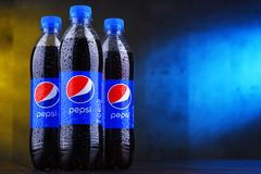 瓶碳酸化合的汽水百事可乐 图库摄影