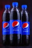 瓶碳酸化合的汽水百事可乐 库存照片