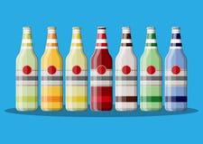 瓶碳酸化合的饮料或汁液 向量例证