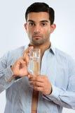瓶科隆香水玻璃藏品人人s 库存照片