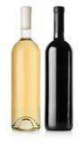 瓶红葡萄酒和白葡萄酒 免版税库存照片
