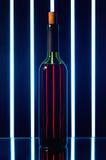 瓶红葡萄酒 库存图片