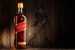 瓶约翰妮步行者苏格兰威士忌酒 免版税库存照片