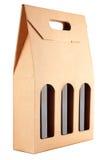 瓶纸板装箱三酒 库存图片