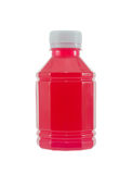瓶草莓汁 免版税库存照片