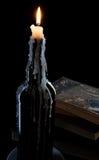瓶蜡烛 免版税库存图片