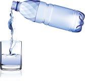 瓶装水 库存例证