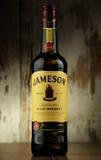瓶詹姆森爱尔兰人威士忌酒 库存照片
