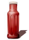瓶调味汁蕃茄 皇族释放例证
