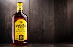 瓶贝璐混和了苏格兰威士忌酒 免版税库存照片