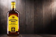 瓶贝璐混和了苏格兰威士忌酒 库存图片