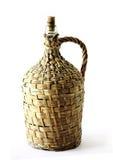 瓶酒木头 免版税库存照片