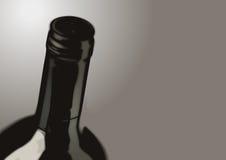 瓶酒-宽 免版税库存图片