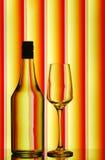 瓶酒stemware 免版税图库摄影