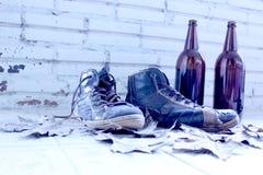 瓶鞋子 免版税库存图片