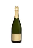 瓶香槟查出的白色 免版税库存照片