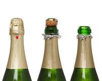 瓶香槟查出的白色 免版税库存图片