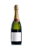 瓶香槟标签没有红色 免版税库存图片