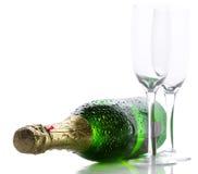 瓶香槟 图库摄影