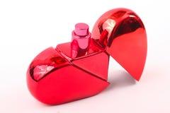 瓶香水红色 免版税库存照片
