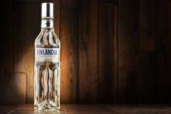 瓶Finlandia伏特加酒 免版税库存图片