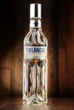 瓶Finlandia伏特加酒 图库摄影