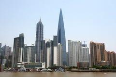 瓷上海地平线 免版税库存图片