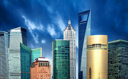 瓷上海摩天大楼 库存照片