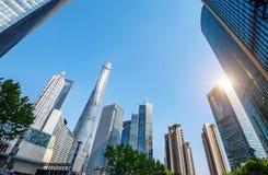 瓷上海摩天大楼 免版税库存照片
