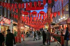 瓷中国伦敦新的城镇年 免版税库存照片