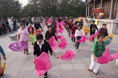 瓷中国执行公园人员xingqing的县 库存照片
