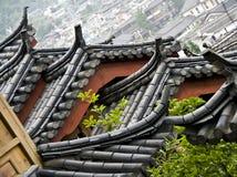瓷中国lijiang屋顶 库存图片