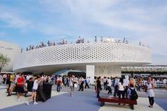 瓷丹麦expo2010亭子上海 免版税库存图片