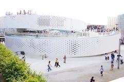 瓷丹麦expo2010亭子上海 免版税图库摄影