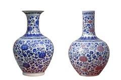 瓷二个花瓶 免版税库存图片