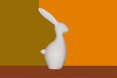 瓷兔子 库存图片