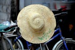 瓷农夫帽子pengzhou s秸杆 免版税库存照片