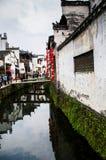 瓷农村建筑和生活环境 免版税库存照片
