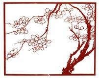 瓷剪切龙纸张菲尼斯 免版税库存图片