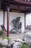瓷古典庭院苏州 库存图片