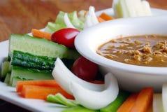 瓷可口厚待食物接受swe蔬菜 免版税图库摄影