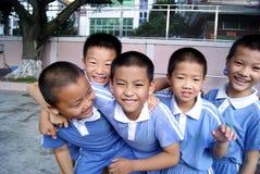 瓷可爱的学生深圳 免版税库存照片