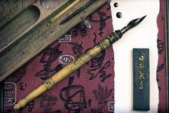 瓷和鸟嘴墨水  免版税库存图片