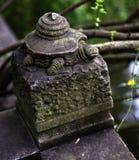 瓷四川石寺庙turtel 图库摄影