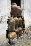 瓷土瓶子 库存图片
